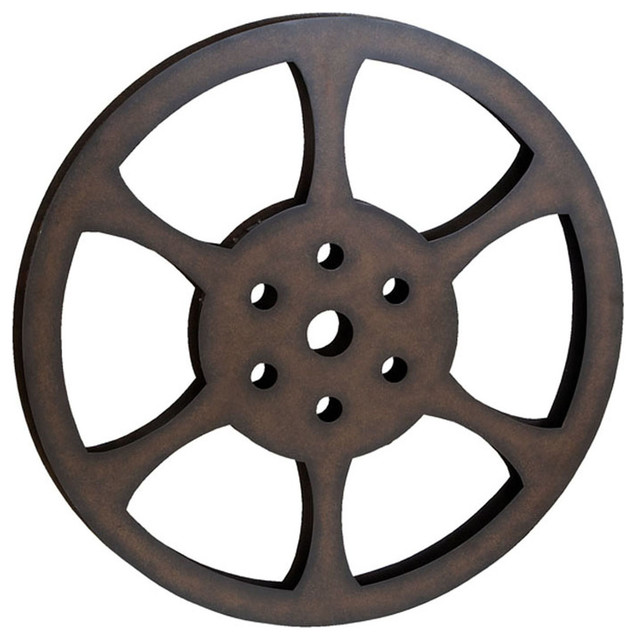 "Hollywood 32"" Metal Film Reel Home Movie Theater Accent"