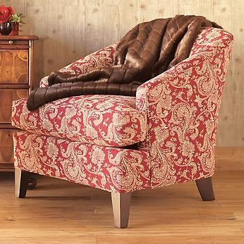 Crimson Paisley Chair traditional-living-room-chairs