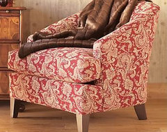 Crimson Paisley Chair traditional chairs