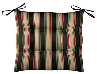 "Tufted Chair Cushion 21-1/2""x18""x3"" - Tropical Coast Stripe contemporary-outdoor-cushions-and-pillows"