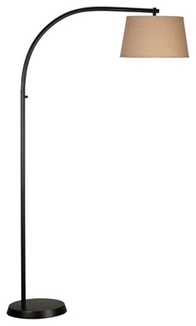 Simplicity sweeping arc floor lamp floor lamps by shades of light - Arc floor lamp shade ...