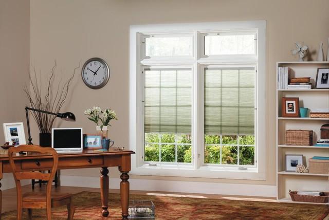 Pella Designer Series Casement Windows w/ Shades In between glass - Transitional - Windows - dc ...