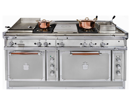 Officine Gullo - This is part of our new double oven collection of ranges and it is shown here in brushed stainless steel with chromed brass accents. Available in over 212 color and 100's of configurations for cooktop as well as oven options. See more at www.officinegullousa.com
