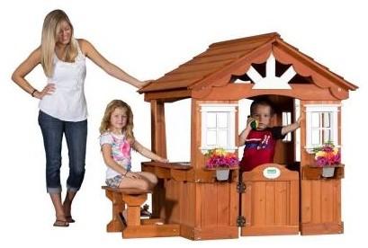 backyard discovery playground equipment scenic all cedar playhouse