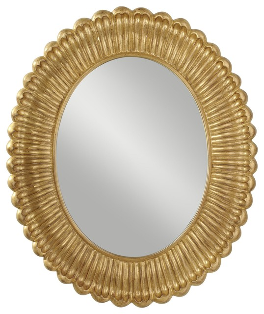 Murray Feiss Emmet Traditional Oval Mirror X-GAP8111RM transitional-wall-mirrors