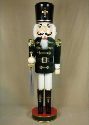 Green and Gold Velvet Soldier Nutcracker modern-kitchen-tools-and-gadgets