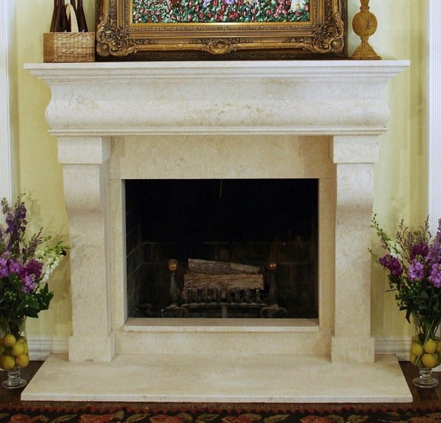 Fireplace Mantels Traditional Indoor Fireplaces Other Metro By Sabella Carved Stone