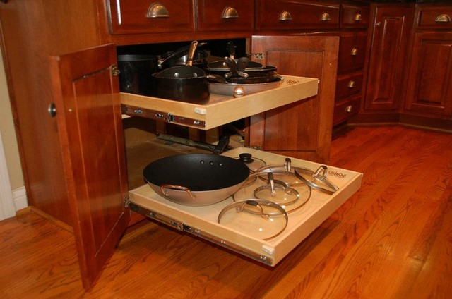 Slide Out Shelves for Your Kitchen - Kitchen Drawer Organizers - louisville - by ShelfGenie of ...