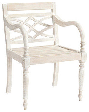 Ceylon Outdoor Arm Chair traditional-outdoor-lounge-chairs