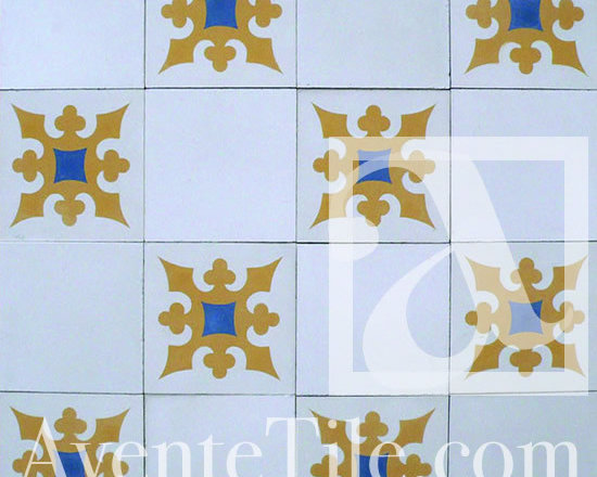 "Traditional Ponce Cement Tile 8"" x 8"" -"