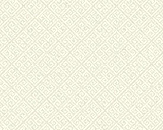 Neutral Greek Key Vibe Wallpaper -