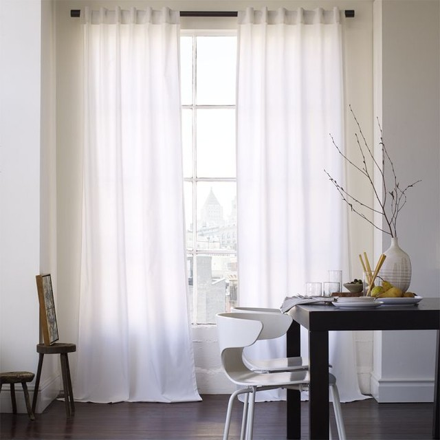 White Linen Curtain Panels White Textured Curtain Panels