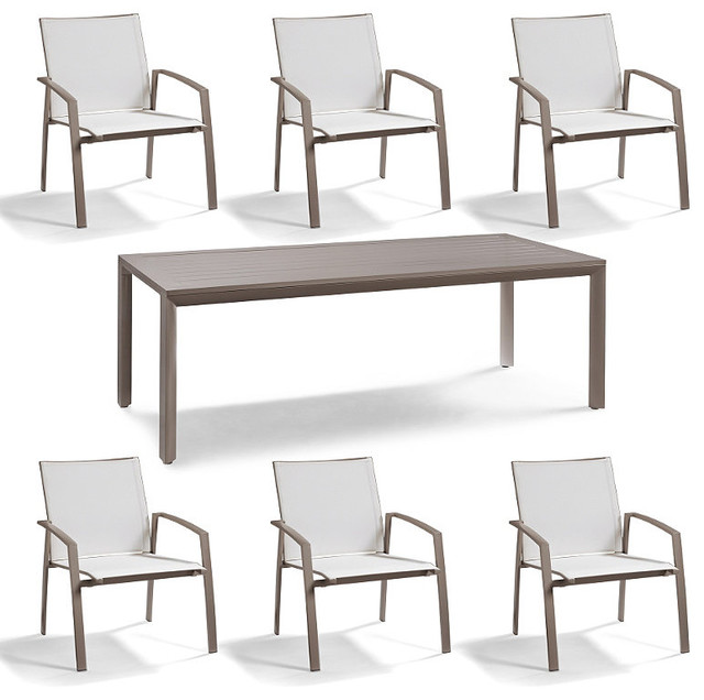 Newport 7 pc Rectangular Dining Set Patio Furniture  : traditional dining tables from www.houzz.com size 640 x 636 jpeg 63kB
