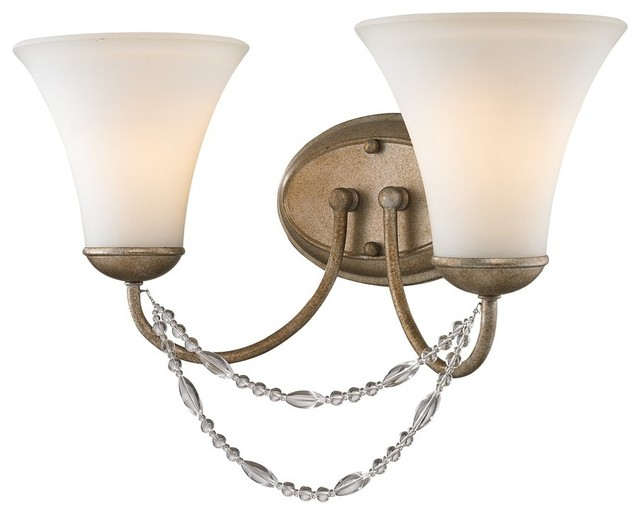 Traditional Crystal Wall Lights : Golden Lighting 7644-BA2 GA Mirabella Traditional Crystal Wall Sconce - Traditional - Wall Sconces