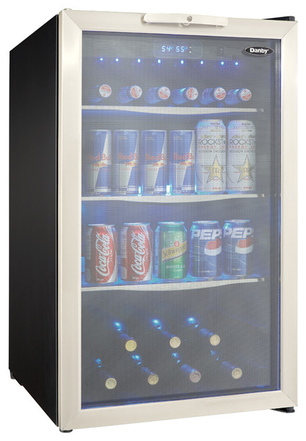 4 3 Cu Ft Free Standing Beverage Center Contemporary