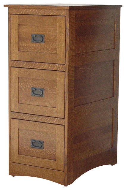 Chelsea Home Brookdale 3-Drawer File Cabinet in White Quarter Sawn Oak - Traditional - Filing ...