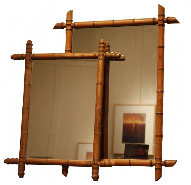 Bamboo Mirror Eclectic Wall Mirrors New York By Second Shout Out