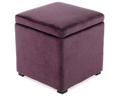 Detour Storage Ottoman, Purple contemporary-footstools-and-ottomans