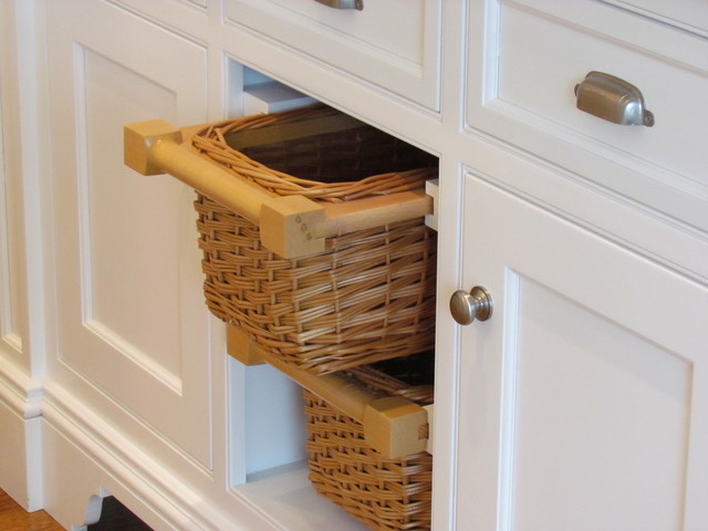 Undercounter Storage Baskets - Traditional - Decorative Accents - boston - by Architectural ...