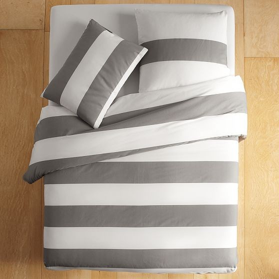 Stripe Duvet Cover + Shams modern bedding