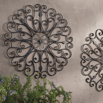 gracie iron wall art grandin road traditional outdoor wall art