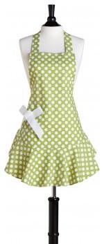 Green & White Polka Dot Josephine Apron by Jessie Steele modern-aprons