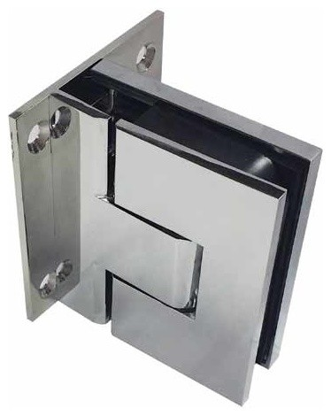 Paragon Soft Close Shower Door Hinges Glass 2 Wall Pair Polished Chrome