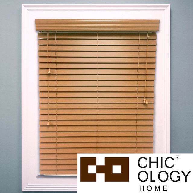 Chicology 'Blaze' Faux Wood Window Blinds contemporary-window-blinds