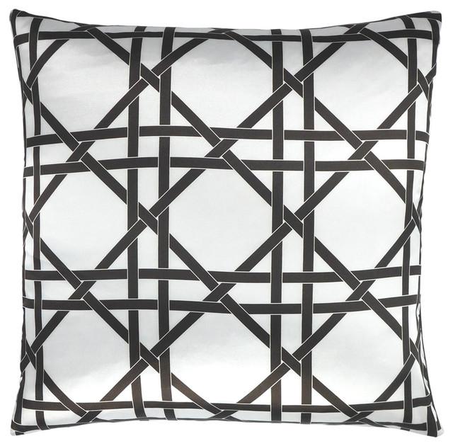 """Over Under wicker weave modern throw pillow 20"""" x 20"""" modern-decorative-pillows"""