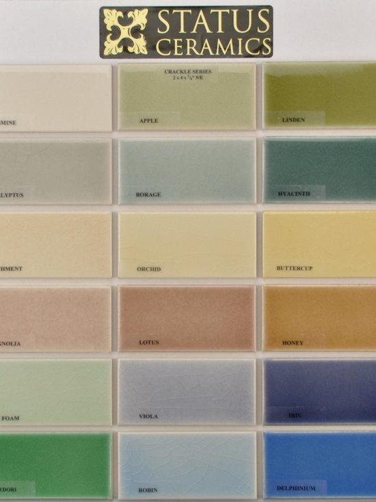 2x4 crackle glaze colors - Status 2x4 Crackle glaze color palette.  Field tile come in 2x2,2x4,2x6,2x8,3x6,6x6,4x4,4x8,8x8