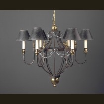 Carousel hand-forged iron chandelier traditional-chandeliers