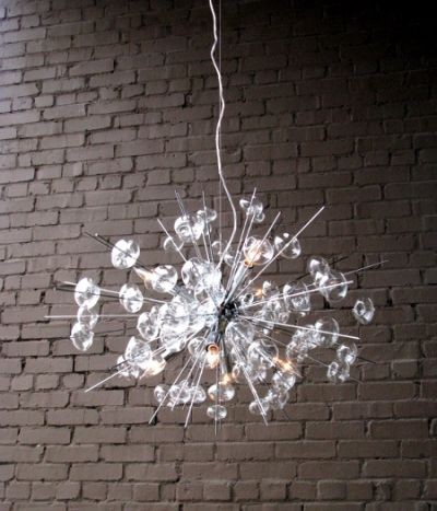 Bubbles glass modern chandelier solaria large light dining room lighting ceiling eclectic - Contemporary chandelier for dining room ...