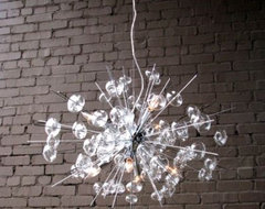 Bubbles Glass Modern Chandelier Solaria Large Light Dining Room Lighting Ceiling eclectic-chandeliers