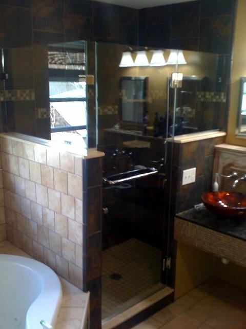 Frameless Shower Enclosure Custom eclectic-showers