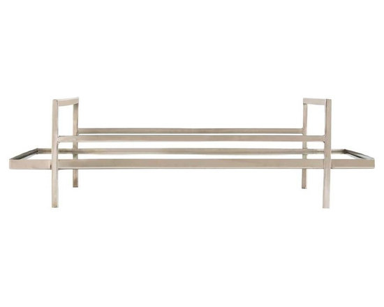 Arteriors Home - Charles Tray - Charles Tray made of solid brass finished in Polished Nickel or Antique Brass is perfect for serving drinks or appetizers. The mirrored bottom makes it work equally well as a platform for an assortment of candles. 22 inch width x 6 inch height x 16 inch depth.