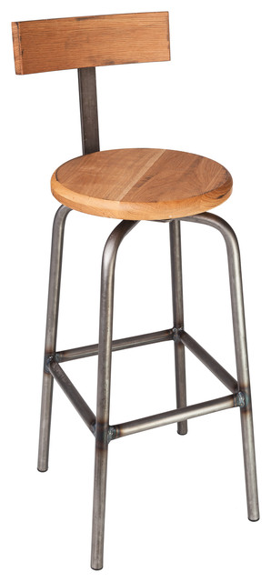 "Swivel Pub Stool with Back - 30"" H contemporary-bar-stools-and-counter-stools"