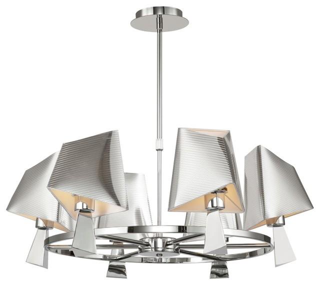 Transglobe MDN-951 Chandelier - Polished Chrome - 31.25W in. modern-chandeliers