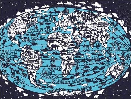World Map Print contemporary-artwork
