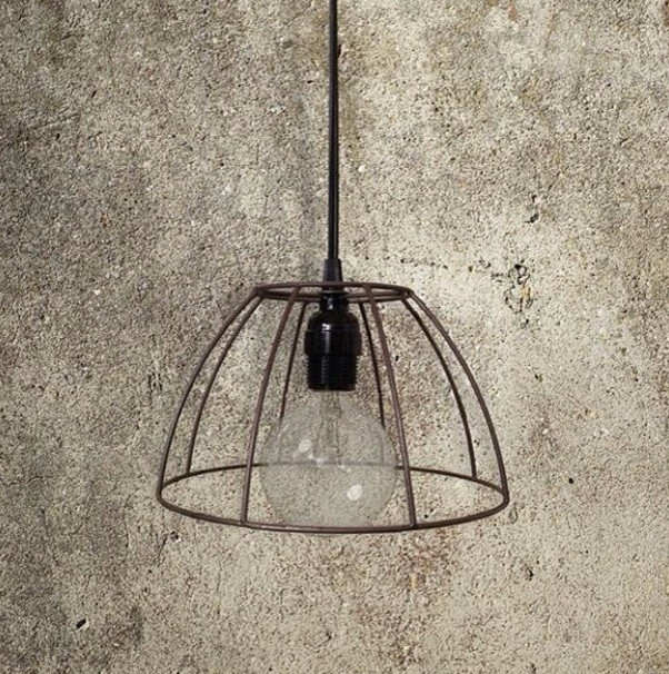 exposed wire frame pendant light eclectic pendant