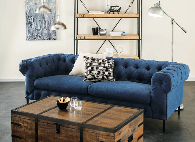 Maxwell Chesterfield Sofa Navy