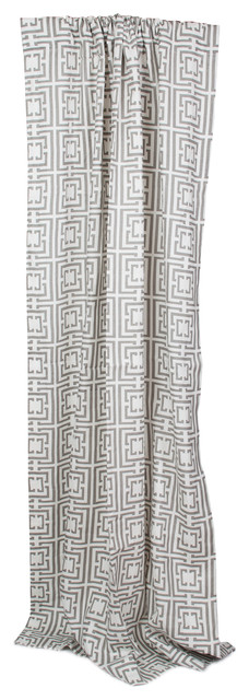 COCOCOZY: COCOCOZY Logo Drape Panel traditional-curtains