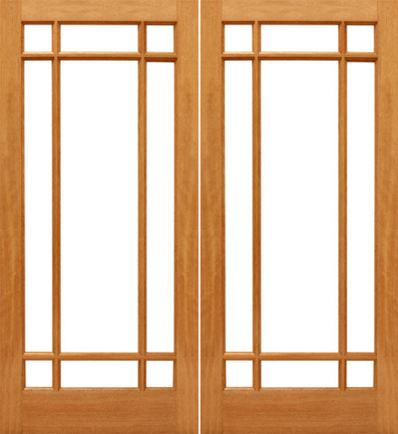 9 marginal interior brazilian mahogany wood ig glass for Double glass french doors