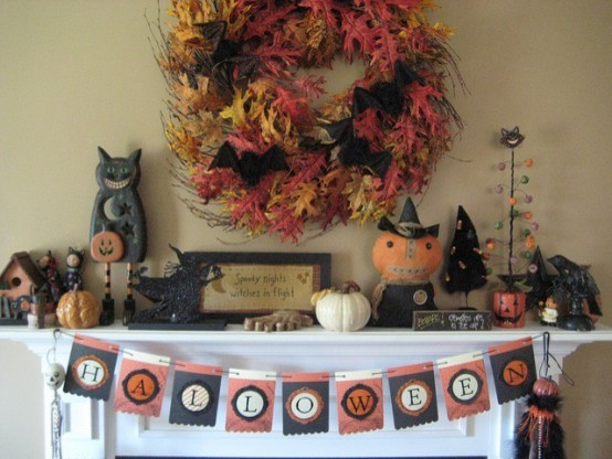 Halloween Mantel traditional