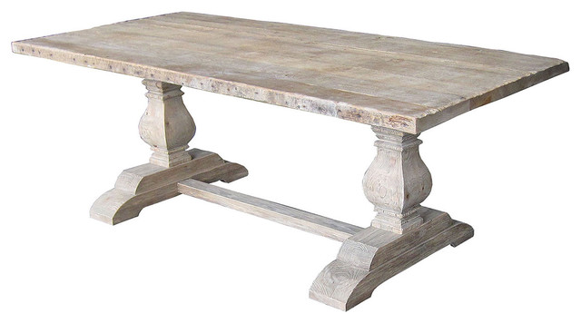 Dining Table Salvaged Trestle Dining Table