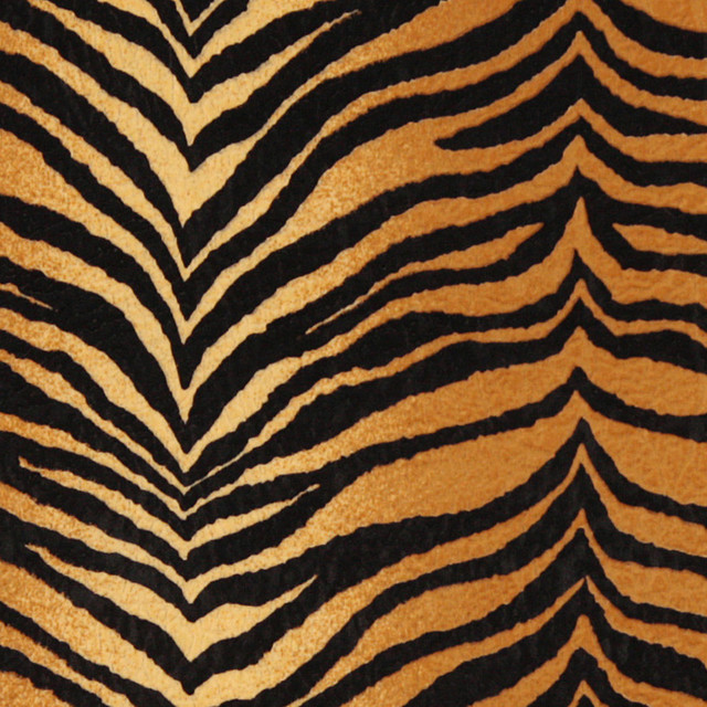 Gold And Black Tiger Microfiber Stain Resistant Upholstery Fabric By The Yard contemporary-upholstery-fabric