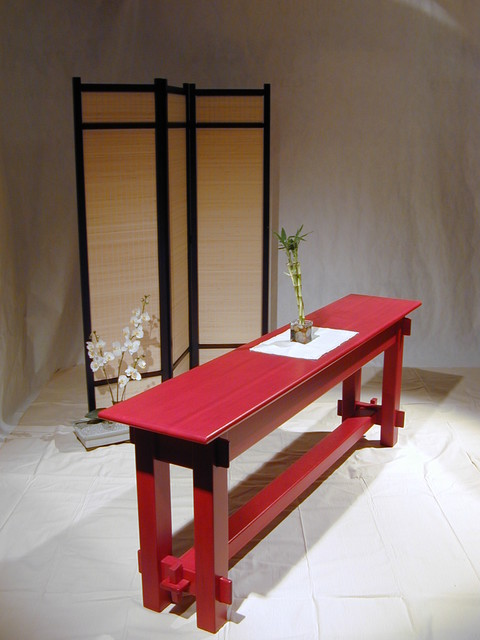 Craftsman Timber Frame Furniture asian-side-tables-and-end-tables
