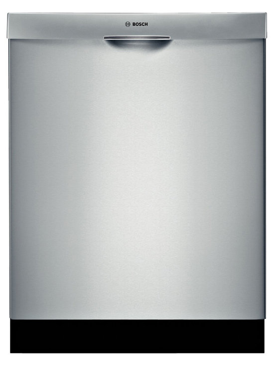 """Bosch 24"""" 500 Series Recessed Handle Dishwasher, Stainless Steel 