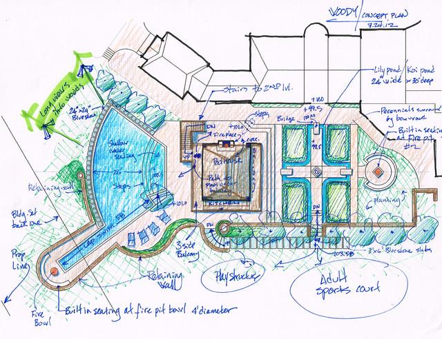 Conceptual designs traditional-site-and-landscape-plan