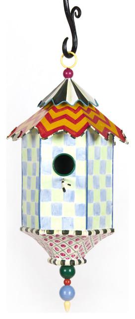 Flyer's Folly Birdhouse | MacKenzie-Childs eclectic-birdhouses