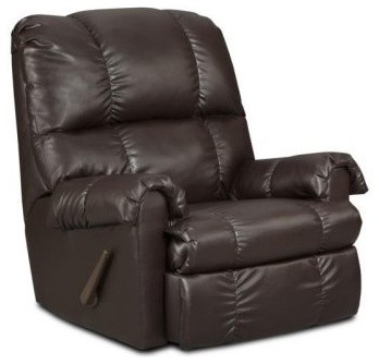 Chelsea Home Grace Handle Rocker Recliner - Apache Chocolate modern-armchairs-and-accent-chairs
